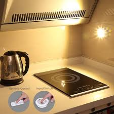 Battery Operated Under Cabinet Lighting Kitchen Amir Wireless Led Puck Light 3 Pack With Remote Control Under