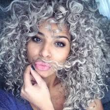 naturally curly gray hair platinum silver curls hair colors ideas for frizzy hair color