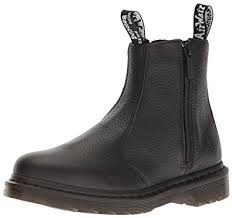 womens dealer boots uk dr martens s 2976 w zips chelsea boots blank amazon co uk