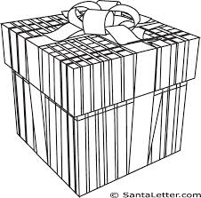christmas presents coloring pages santaletter