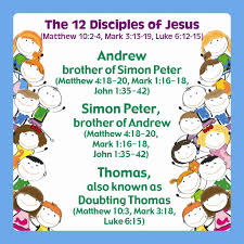 origami card help children learn the names of the 12 apostles