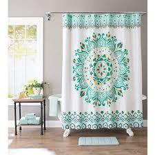 better homes and gardens medallion fabric shower curtain walmart