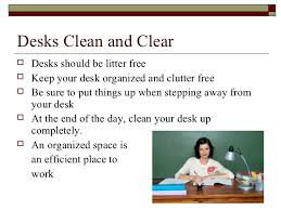How To Clean Your Desk Office Safety With Visual Exam At End