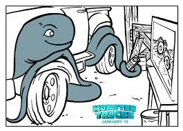 monster trucks printable coloring page books and movies