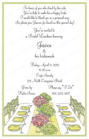 bridesmaid lunch invitations 10 bridal luncheon invitations with envelopes free return address