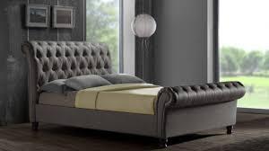 Bed Frame King Size Brilliant Hans King Size Fabric Upholstered Bed Frame Grey Buy