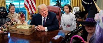 trump greets oval office trick or treaters u0027i can u0027t believe the