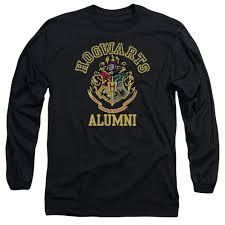 hogwarts alumni tshirt hogwarts alumni black sleeve t shirt harry potter shop