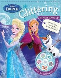 disney frozen glittering sticker dress parragon books