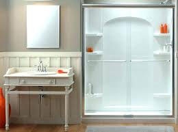 How To Install A Sterling Shower Door Kohler Sterling Ensemble Shower Base 0 White Series Acclaim Tub