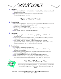 types of resume formats type up a resume how to type resume