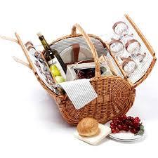 picnic basket for 4 4 person picnic basket walmart