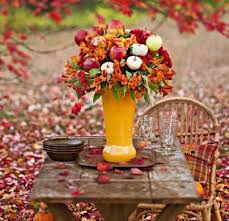 rustic thanksgiving table beautiful candles autumn fall dine
