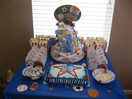 Baby Shower Centerpieces For Boy by Boys Baby Shower Sports Theme Baby Ideas Pinterest Baby
