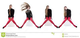 girls in red stockings royalty free stock image image 4539046