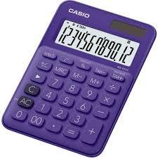 le de bureau à pile calculatrice de bureau casio ms 20uc violet solaire à pile s sur