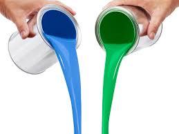 peinture chambre bleu turquoise et décoration l du bicolore