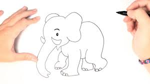 how to draw an elephant for kids youtube