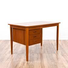 Small Vintage Writing Desk Desk 40 Inch Desk Solid Wood Corner Office Desk Wood