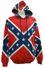 rebel flag pull over hoodie hrf size small to 5x confederate flag