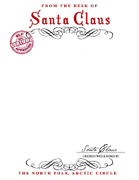 santa claus letters santa claus letterhead will bring lots of to children