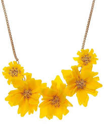 flower jewellery shimarra yellow flower jewellery alloy necklace price in india