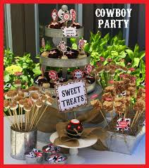 Cowboy Table Decorations Ideas Cowboy Birthday Party Ideas Simonemadeit Com