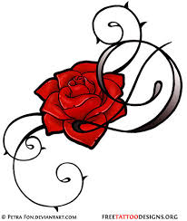 feminine tribal rose tattoo design cool beans pinterest
