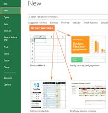 Excel Workbook Template Excel Templates How To And Use Templates In Microsoft Excel