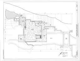 frank lloyd wright fallingwater ground floor plan pennsylvania