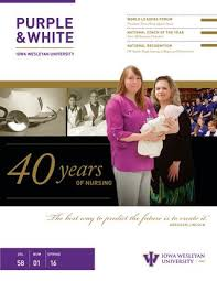 wesleyan rn to bsn purple white 2016 by iowa wesleyan issuu