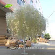 10ft artificial white weeping willow white plastic leaves and for