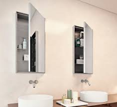 bathroom mirror with storage simple home design ideas