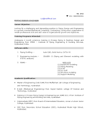 Sample Of Mechanical Engineer Resume by Sample Piping Design Engineer Resume Pipe Fluid Conveyance