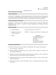 Diploma Mechanical Engineering Resume Samples by Sample Piping Design Engineer Resume Pipe Fluid Conveyance
