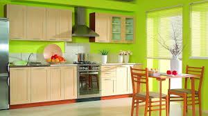 marvelous lime green decor for kitchen interior with green walls