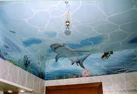 soffitti dipinti decorazione soffitto bagno con acquario silvana brandi