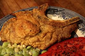 deep south dish southern fried pork chops