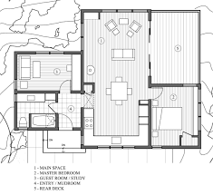 house plans with two master suites on main floor a woodsy cottage by architect cathy schwabe with 2 bedrooms in 840