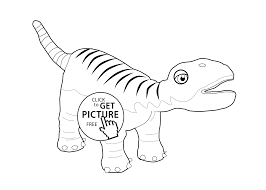 dinosaur train coloring page for kids printable free coloing