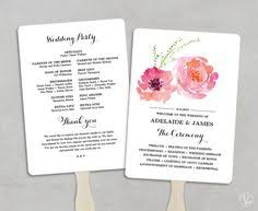 fan wedding program template wedding fans wedding program template fan wedding program diy