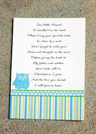 Card Inserts For Invitations 20 Baby Shower Book Insert Cards Baby Shower Book Poems