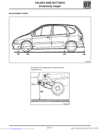 renault trafic dimensions renault scenic 2000 j64 1 g technical note 3426a workshop manual