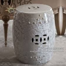 Ceramic Side Table Special Chinese Ceramic White Crystalline Glazed Stool Side Tables