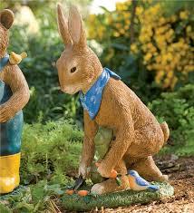 rabbit garden rabbit garden statue gardening design