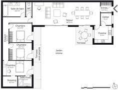 plan maison 3 chambres plain pied résultat de recherche d images pour plan maison 3 chambres plain
