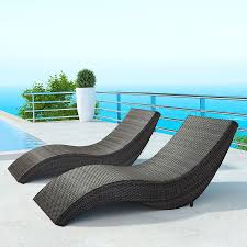 Patio Chaise Lounges Hanz Modern Outdoor Chaise Lounge Eurway Furniture