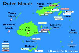 fiji resort map outer island resorts in fiji beautiful fiji hotels