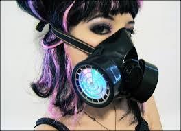 Halloween Costume Gas Mask Light Led Respirator Gas Mask Burning Man Steampunk Rave Cyber