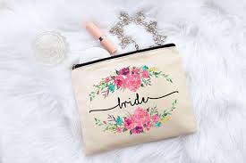 bridal makeup bag gift makeup bag floral bag floral bag